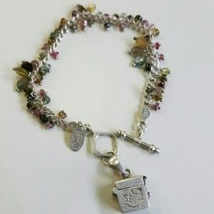 Satya Jewelry Jewelry - Satya semi precious stones lotus wish box charm
