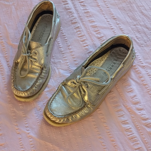 Sperry Shoes - Rose Gold Sperry Boat Shoes