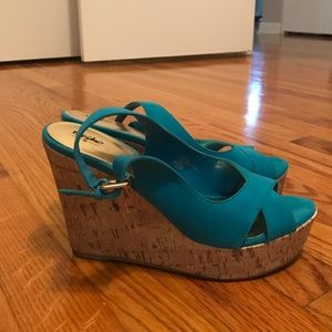Mossimo  Shoes - Teal Wedges