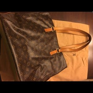 100% real Louis Vuitton Cabas Piano Tote 