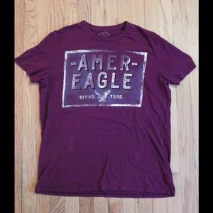 American Eagle Outfitters Other - American Eagle Maroon Athletic Men's T-Shirt Sz L