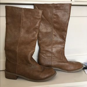 Cute Brown Leather Boots