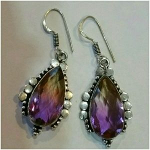 Genuine Ametrine Earrings 2""