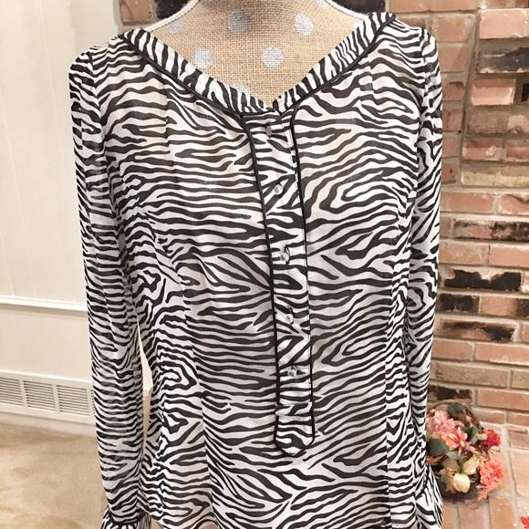8e1d33a713ff8 Zenobia silk animal print blouse