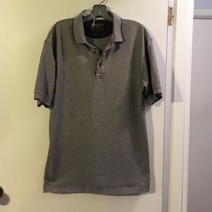Woolrich men's gray/cream polo shirt