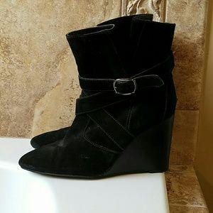 Colin Stuart Shoes - Colin Stuart Short Black Suede Boot
