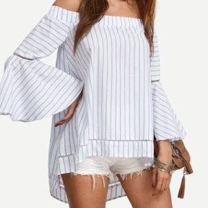 Tops - Off the Shoulder Bell Sleeve Top