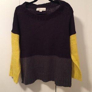 Vintage Havana color block sweater