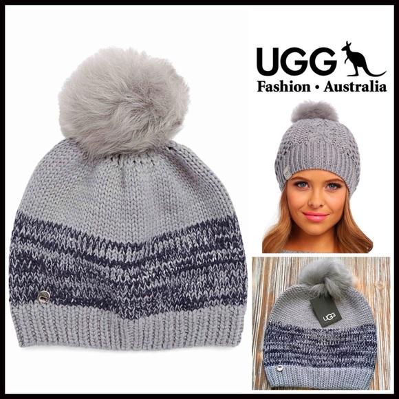 eaaefa19804 UGG Beanie Genuine Shearling Pom Pom Hat