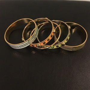 Set of 5 Enamel Bangle Bracelets by C Wonder