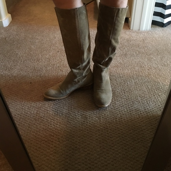 bf92ac88b7d1 Bronx Shoes | Kneehigh Suede Slouch Boots Were Made For Walking ...