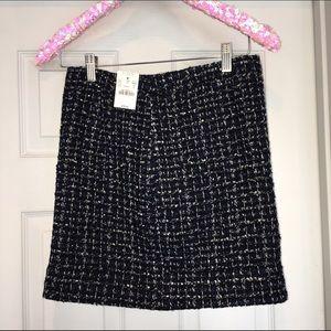 J Crew tweed skirt 00 XXS XS