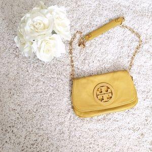 TORY BURCH Amanda crossbody clutch Bag yellow