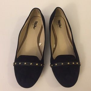 Mossimo Black Faux Suede Flats 6.5