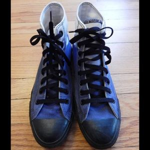 Converse Other - Converse Blue and White Ombré High Tops Sz 8 Men