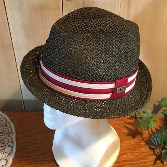 dc5edef3dbf Vans Straw Fedora Hat. M 581e28436a5830edcd036d0a