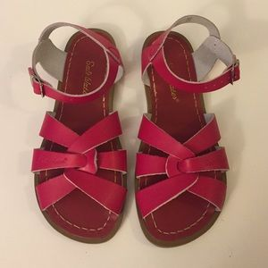 Salt Water Sandals by Hoy Shoes - Salt Water Red Sandals (UK 4) 7