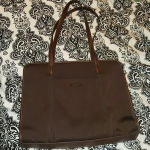 Coach New York Brown nylon briefcase laptop bag
