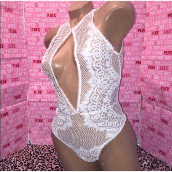 c11cf41a0bf Vs lingerie keyhole teddy Lace bodysuit one piece. NWT. Victoria's Secret