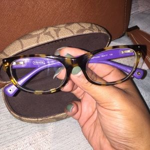 Coach Purple and Tortoise Frames
