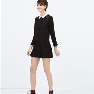 Zara Black Collar Playsuit