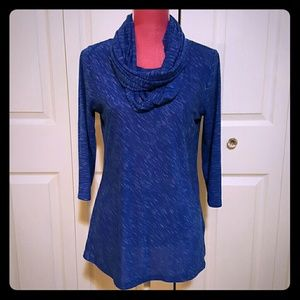 Blue Marl Tee and Scarf Set