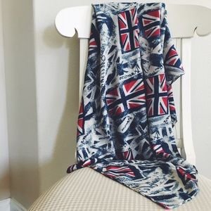 Accessories - Large Blue Union Jack Scarf