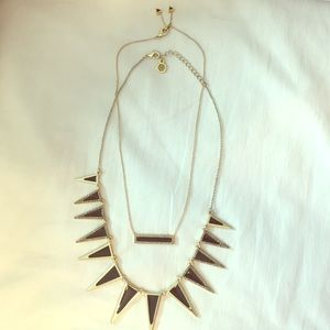 House of Harlow Pavé Spike and Bar Necklaces
