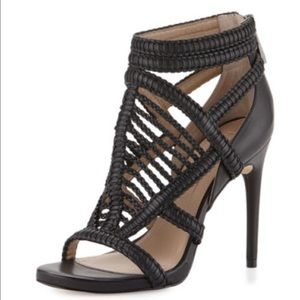 BCBG Dori Braided Leather Sandals (Size 6)