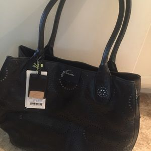 Tote laser cut leather