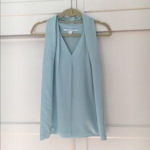 Diane von Furstenberg Mint Green Sleeveless Blouse