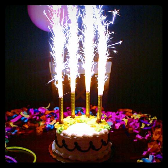 VIP Sparkler Birthday Candles