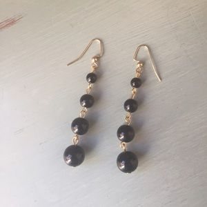Jewelry - Black beaded earrings