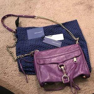 Purple Rebecca Minkoff Mini Mac Clutch
