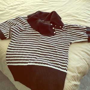 White House Black Market Sweaters - Black and White Sweater