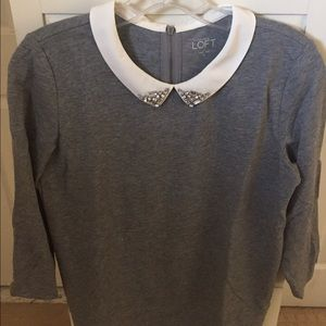 Loft embellished collar shirt