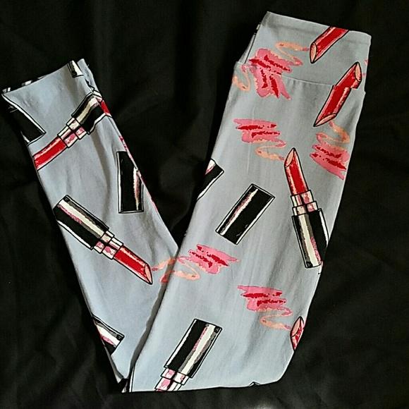5d763570905617 LuLaRoe Pants | New Tween Lipstick Leggings | Poshmark