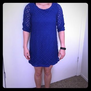 Dresses & Skirts - Royal blue lace dress size small
