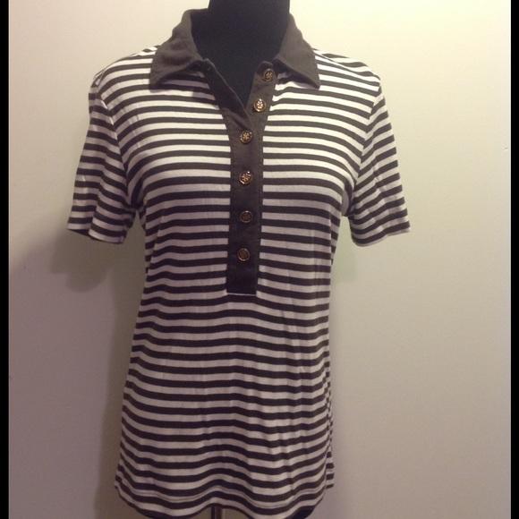 423e818fa7bc Tory Burch Striped Polo. M 581e47732fd0b72d4103ec16