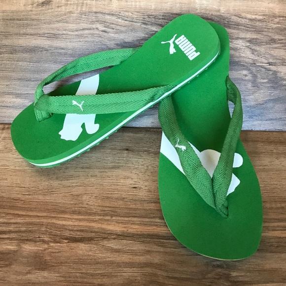 234d824869b4 Green Puma Flip Flops. M 581e49594e8d17d16d03f4c9