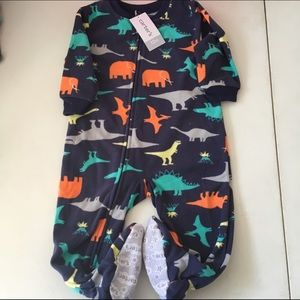 Carter's Other - Carters 12 month fleece onsie NWT Size 12 months