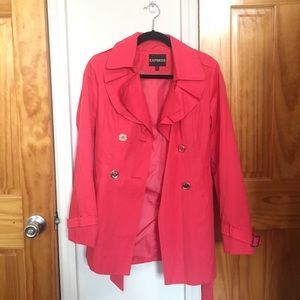 SALE Pink Express Trench Coat