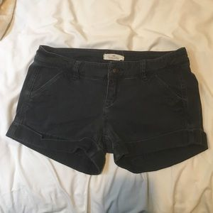 Hollister Distressed Navy Shorts