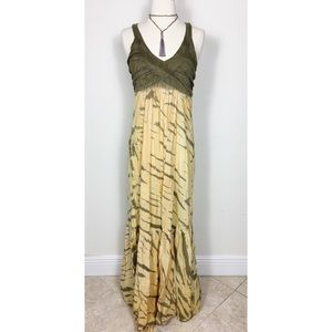 "ANTHROPOLOGIE Tie Dye Maxi Dress by ""Green Dragon"""