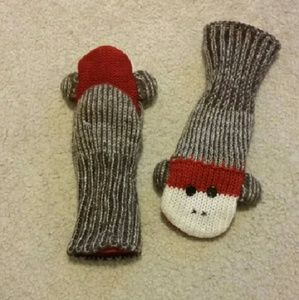 Sock Monkey Mittens