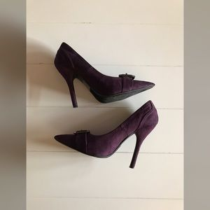Paprika Shoes - Paprika - Purple Suede Heels