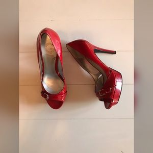 G By Guess - Red Patent Heels