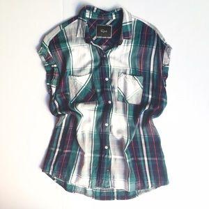 Rails Tops - ❗️FINAL PRICE❗️Rails Britt Cap Sleeve Plaid Shirt
