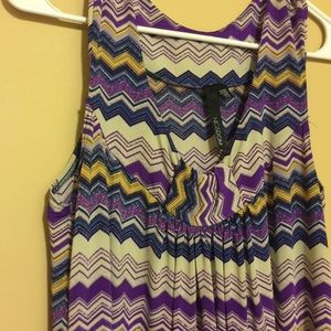 Dresses & Skirts - Purple Zig Zag Chevron dress