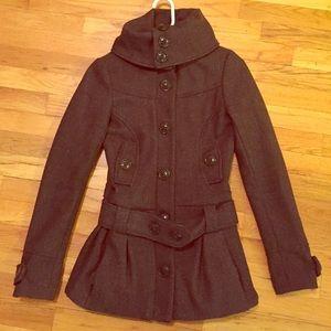 H&M high collar wool jacket size 2